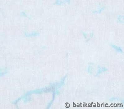 Iced Blue Water Color Batik Fabric